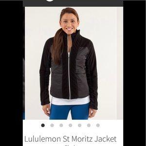 Lululemon St. Moritz fleece/nylon jacket . Size 12